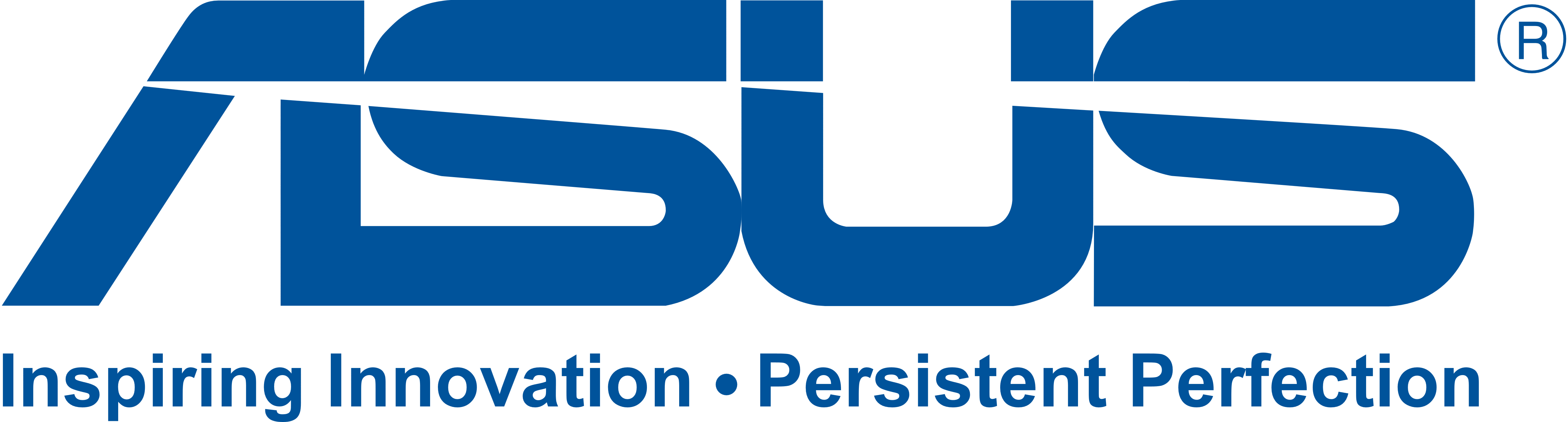 Asus logo inspiring innovation persistent perfection