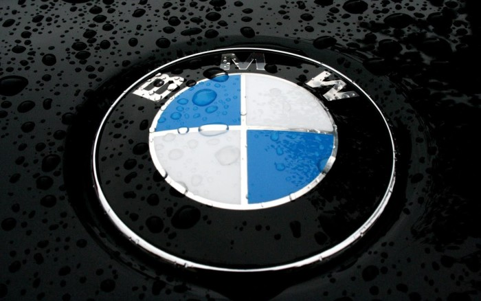 BMW Logo, Wet, Car, Wallpaper 1920x1200