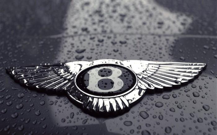 Bentley logo on the car, wallpaper 1920x1200