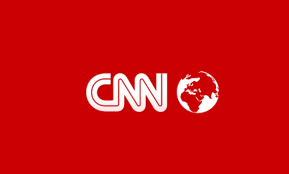CNN inverted logo, red and white
