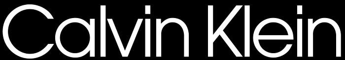 Calvin Klein logo - inverted colors