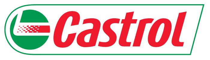 Castrol logo, 2D, white