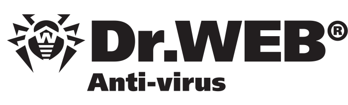 Dr Web antivirus, black logo