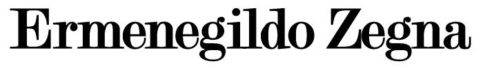 Ermenegildo Zegna logo, white bg