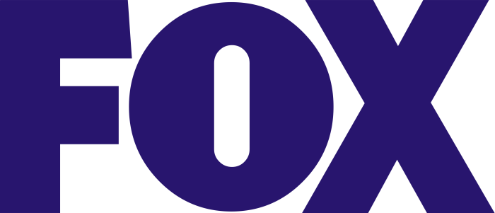 Fox logo (indigo color, Broadcasting Company)