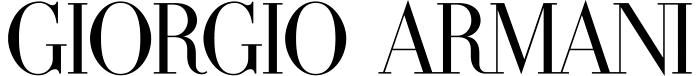 Giorgio Armani logo, white