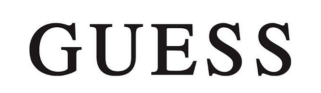 Guess logo, white
