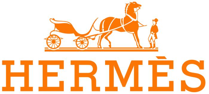 Hermes logo, white background