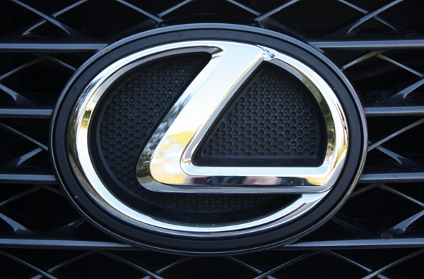 Lexus logo close up