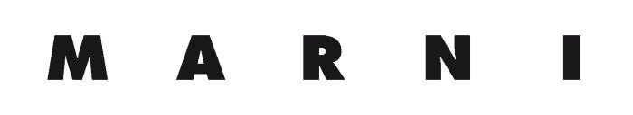 Marni logo, white background