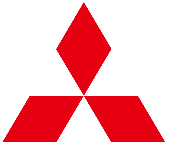 Mitsubishi red logo, no text