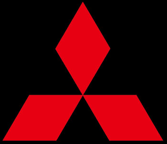 Mitsubishi red logo, no text