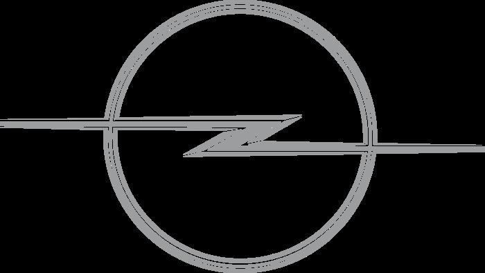 Opel badge Logo 1968