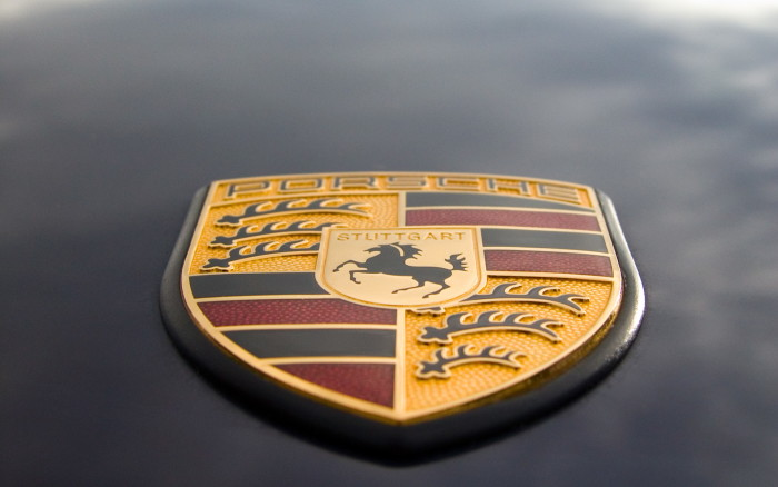 Porsche logo, desktop wallpaper 1920x1200