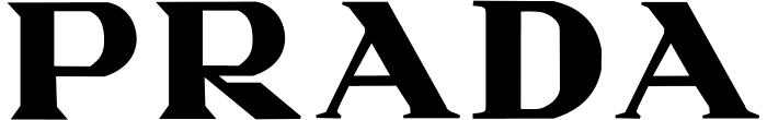 Prada logo, white
