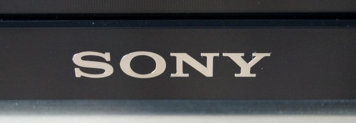 Sony logo on the TV