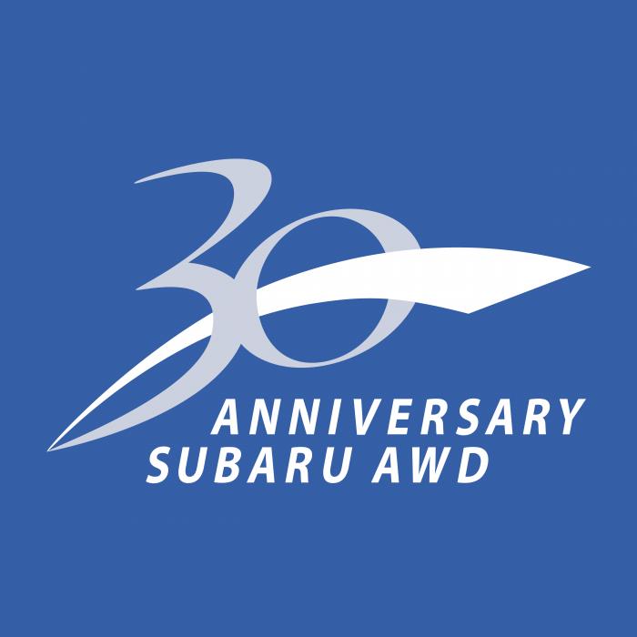 Subaru 30 Anniversary logo awd