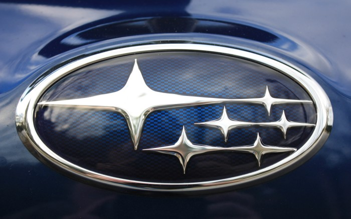 Subaru logo on the car - wallpaper 1920x1200