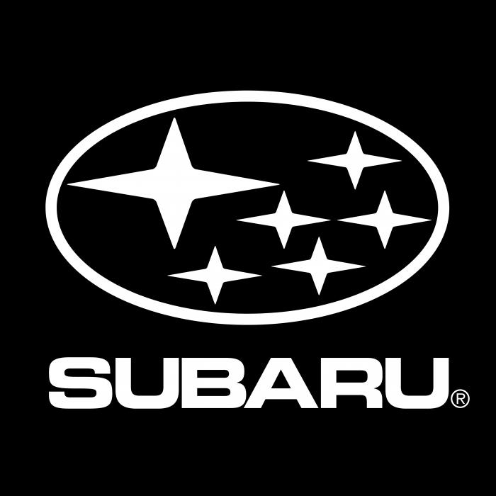 Subaru logo white