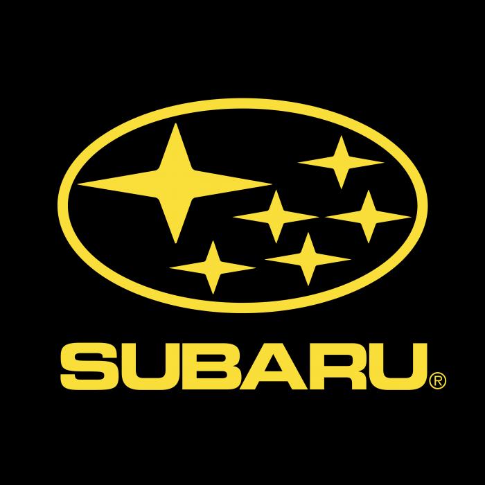 Subaru logo yellow