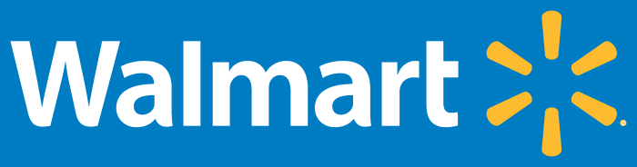 Walmart logo, transparent, png, blue