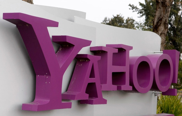 Yahoo real logo 3D, Yahoo Sunnyvale campus, California