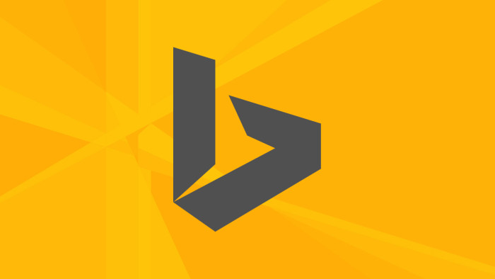 Bing.com - b letter, grey and yellow logo