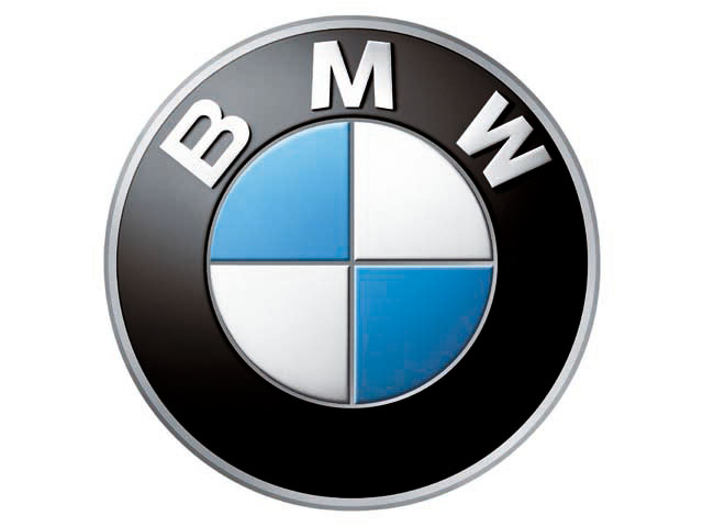 bmw logo, white