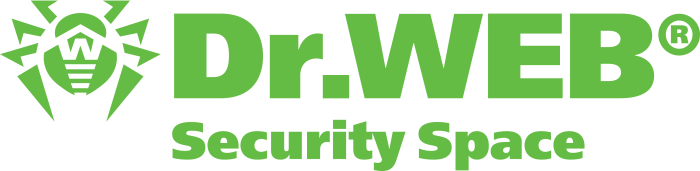 drweb logo, security space, green