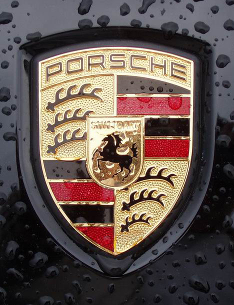 Real Porsche logo on the car