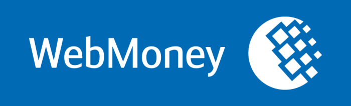 Webmoney logo, blue background