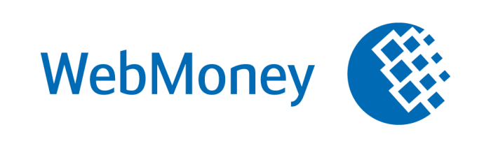 Webmoney logo, white background