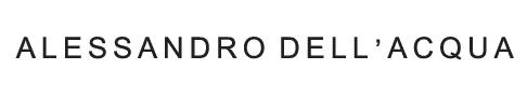 Alessandro Dell'Acqua logo, logotype, emblem, white