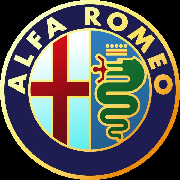 Alfa Romeo logo gold