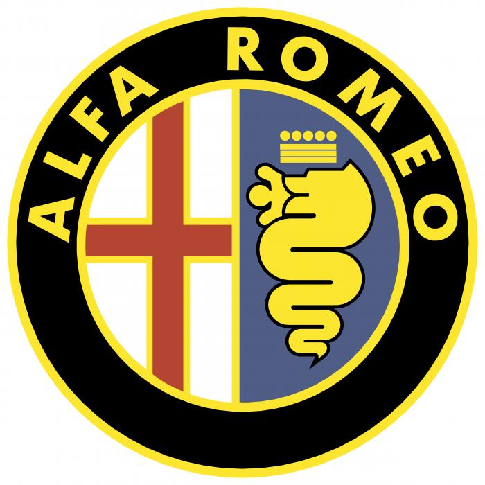 Alfa Romeo logo yellow