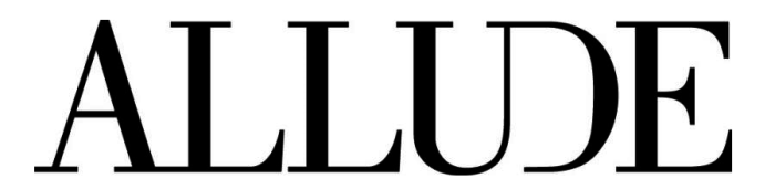 Allude logo, logotype, textmark