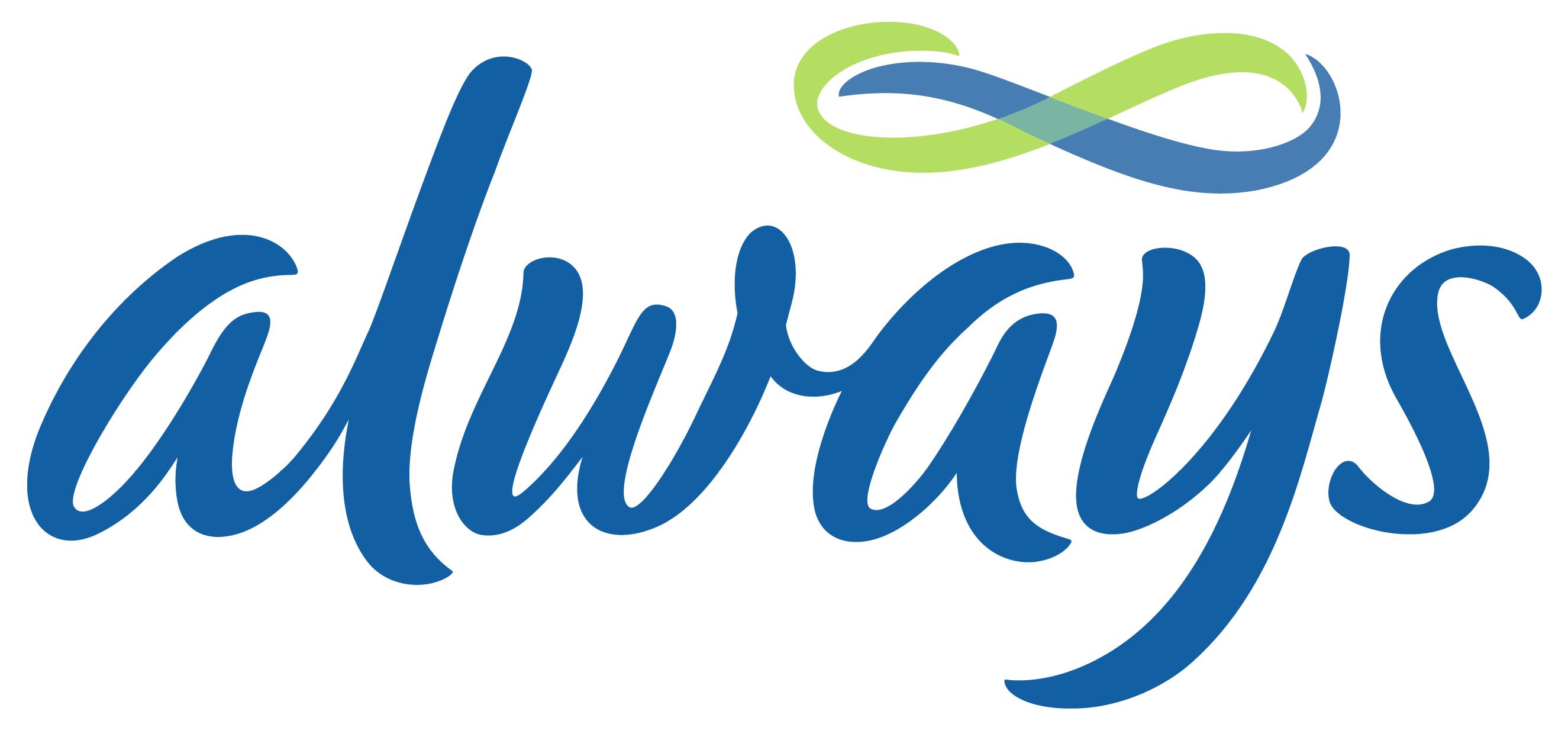 Always logo, logotype, emblem