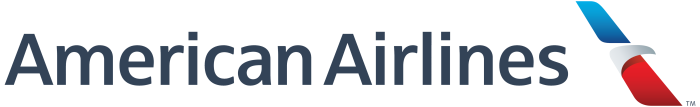 American Airlines logotype, white background