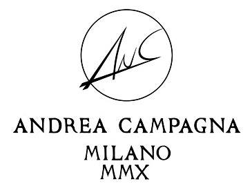 Andrea Campagna logo, logotype, emblem, black