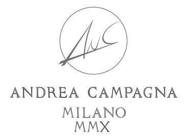 Andrea Campagna logo, logotype, emblem, grey