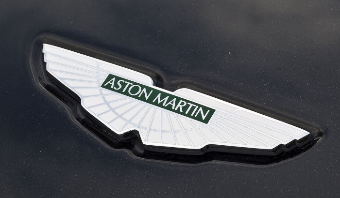 Aston Martin emblem, logo on the car