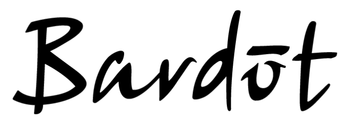 Bardot logo, logotype, emblem