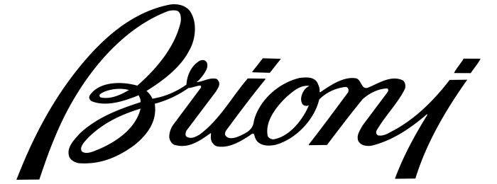 Brioni logotype, logo, emblem, black