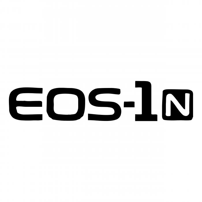 Canon EOS 1N logo black