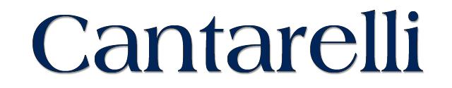 Cantarelli logo, logotype, wordmark