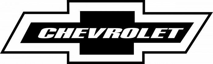 Chevrolet logo black white