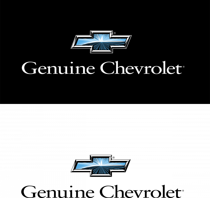 Chevrolet logo blue