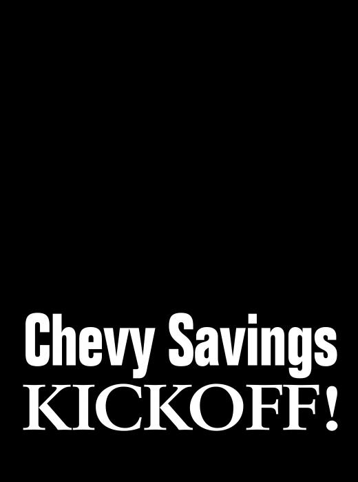 Chevrolet logo kickoff