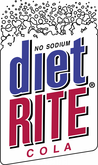 Coca Cola Diet Rite logo red