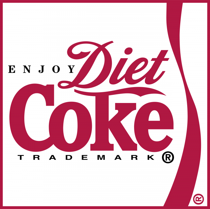 Coca Cola Diet logo red